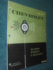 1949 1972 Chevrolet Car Amp Truck Radio Parts Book Original Catalog Camaro Nova