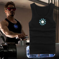 NEW Iron Man3 Tony Stark Arc Reactor Luminous Cosplay Tops Vest T-Shirt 3 Styles