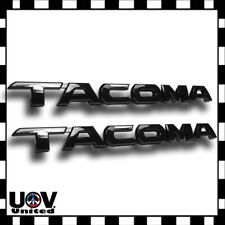 2 x For Toyota Tacoma Gloss Black Tag Door Fender Emblem Decal Badge Nameplate