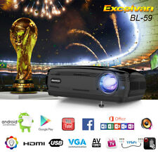 1080P Full HD LED Projector Home Cinema Theater Bluetooth USB/HDMI WiFi 4K 3D UK