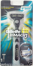 Gillette Mach3 Razor Handle Shaving Blade Safety Razor with 1 Cartridge Mach 3