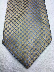 BANANA REPUBLIC MENS TIE GOLD WITH BLUE 4 X 60
