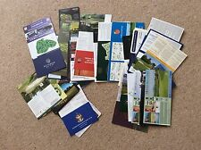 GOLF SCORE CARDS - 45 CARDS - MINT/UNUSED-Spain,Portugal,Thailand,Sicily,USA,UK