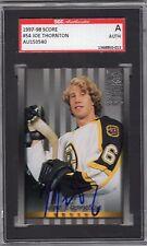 1997-98 Donruss Studio Joe Thornton Autographed Card #54 SGC Bruins Sharks