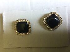 Pierced Earrings Vintage Black