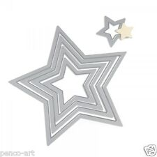 Sizzix Framelits 5 pc nesting dies STARS Use big shot or plus die machine 657567