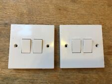 Two USED two-gang double light switches