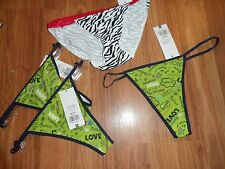 1 flirtitude string bikini & 3 thongs ~  small / 5  nylon spandex Xhilaration