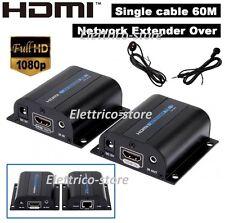 EXTENDER HDMI IR ADATTATORE SU SINGOLO LAN RJ45 Cat5e Cat 3D HD 1080p 60 milioni