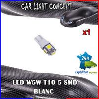 1 x ampoule veilleuse Feu LED W5W T10 BLANC XENON 6500k voiture auto moto 5 smd