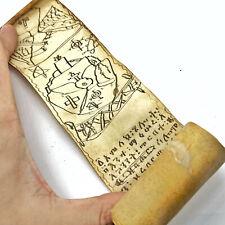 Rare 15-17th Century Ethiopian Ge'ez Coptic Christian Vellum Scroll Manuscript K