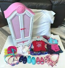 "American Girl, Our Generation, 18"" Doll Armoire, Clothing & Accessories Lot"