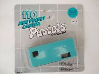 Concord Pastels Teal Camera 110 Flash Ready Pocket Size New