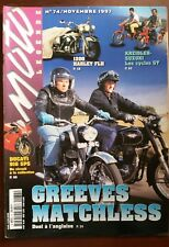 MOTO LEGENDE N°77; Greeves Matchless duel à l'anglaise/ 1200 Harley FLH/ Cyclos