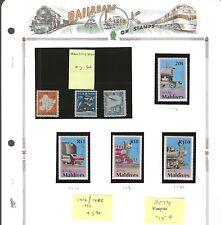 RAILROADS (A)...Maldives #1476/1482 & Manchukuo (3 diff)...Mint...SCV $15.50