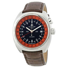 Glycine Airman SST 12 Black Dial Brown Leather Mens Watch GL0075