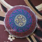 "Round Pillow Covers Indian Mandala 28"" Pillow Cushion Pouf Ottoman Cover Throw"
