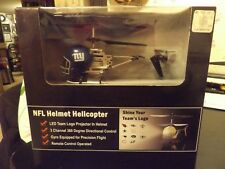 Remote Control Helicopter NFL helmet copter GIANTS NEW NIB