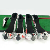 4Pcs/Set PU Leather Sport Golf Club Headcover Wood Putter Driver Head Covers