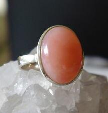 Ring mit Anden Opal, 925er Silber , Gr 16,5 - pink Opal - rosa - Andenopal -