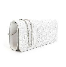 Satin Floral Lace Designer Clutch Bag Evening Purse Ladies Party Wedding Womens