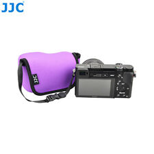 JJC Purple Mirrorless Camera Pouch Case fr Sony A6000 A6300 A6500 +16-50mm Lens