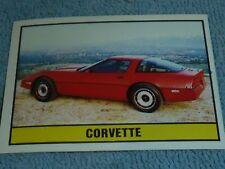 Sammelsticker Nr. 54 Bild Sticker Auto 2000 Corvette Panini 1985