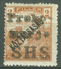 SHS SLOVENIA 1919 - 2 fillers KOZTARSASAG local issue PREKOMURJE Dobrovnik MNH