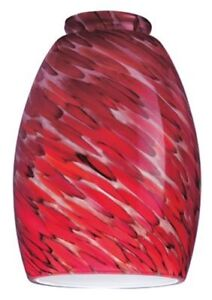 Westinghouse 8141300 - 2-1/4-Inch Handblown Chili Pepper Glass Shade 4 Pack