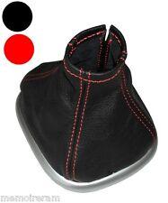 Soufflet de levier vitesse c. rouge en cuir pour pour Renault Scénic 2 2003-2009