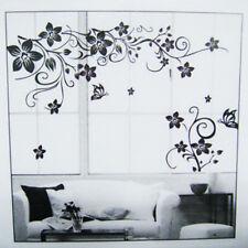 Wandtattoo Blumenranke Schwarz Wohnzimmer Schmetterling Ornament-kor-s