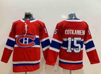 Jesperi Kotkaniemi Montreal Canadiens #15 stitched jersey red men's player game