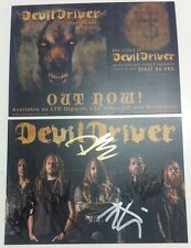 DevilDriver - Trust No One SIGNED card  by ALL the BAND autographed album new CD
