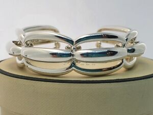 Genuine Links of London Night Garden solid silver bangle bracelet Medium
