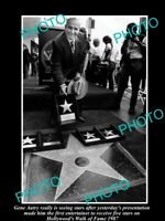 OLD 8x6 HISTORIC PHOTO OF COWBOY GENE AUTRY AT THE HOLLYWOOD WALK OF FAME 1987