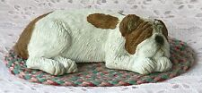 **USA Made** SANDICAST ENGLISH BULLDOG Puppy Dog Snoozer With Free Rug