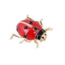 FashionEnamel Red Ladybug Insect Brooches Beetle Pin Scarf Corsage Jewelry Gi P1
