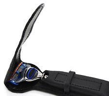 leather travel case/pouch for gillette fusion & gilltte mach 3 razor