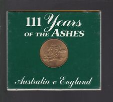 111 Years of the Ashes Australia vs England Bradman Medallion Cricket booklet