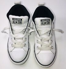 Converse All Star Chuck Taylor Street Mid-Top White Leather Size 1