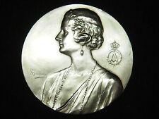 SUEDE BELGIQUE MEDAILLE BRONZE Alf.MAUQUOY IN MEMORIAN ASTRID 1935 KUSSNACHT
