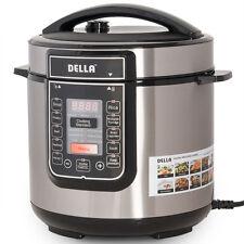 1000 Watt Multifunctional 6-Quart Electric Pressure Cooker Digital Programmable