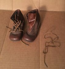 Dr. Liberman's Eureka Vintage Doll Baby Child Shoes Brown Leather Ankle Boots