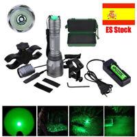 Luz verde LED cerdo cerdo ciervo Varmint linterna caza nocturna Spotlight 18650