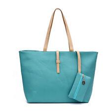 Damen Groß Tasche PU Leder Handtasche Schultertasche Umhängetasche Shopper