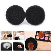 2Pcs color maquillaje pincel limpio ojo sombra esponja limpiador herramienta