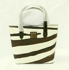 New DOONEY & BOURKE Zebra Black Brown Mini Waverly Satchel Handbag Tote Purse