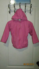 Baby Toddler 3T OutBrook Kids Full Zip Pink Sorbet Hoodie Wind Rain Jacket Coat