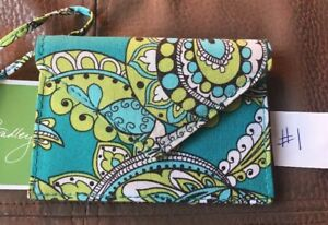 VERA BRADLEY Envelope ID Luggage Tag PEACOCK New With Tags! Retired Last One