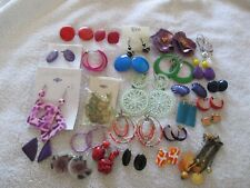 Ear Rings Lots of color Diverse lot of 27 Pierced